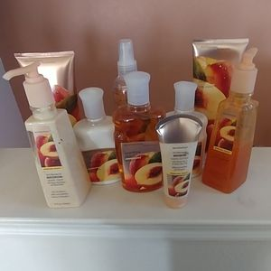 Huge lot of Sparkling Peach Bath and Body Works